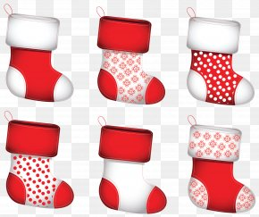 Transparent Christmas Stokings Collection Clipart - Christmas Stocking Clip Art PNG