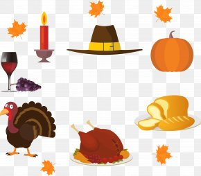 Cartoon Turkey And Chicken Candle - Turkey Barbecue Chicken Thanksgiving Clip Art PNG