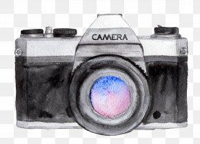 Camera - Camera Watercolor Painting Drawing Photographer Photography PNG