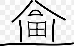 House - Line Art Drawing House Clip Art PNG