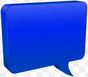 Speech Bubble Blue Clip Art Image - Product Rectangle Blue PNG