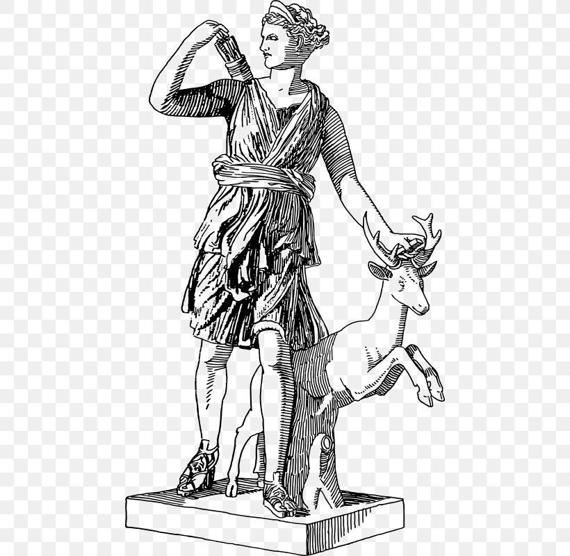 Artemis Triple Goddess Greek Mythology Clip Art Png