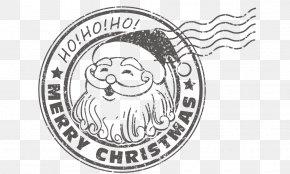 Christmas Santa Claus Postmark Vector Material - Santa Claus Christmas PNG