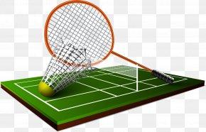 Badminton - Badminton Net Sport Racket Shuttlecock PNG