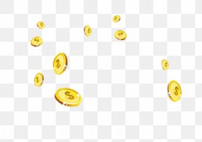 Money Flying,yellow,Hand Painted - Coin Yellow Computer File PNG