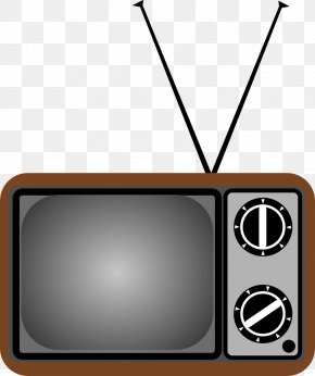 Vintage TV - Television Free-to-air Clip Art PNG