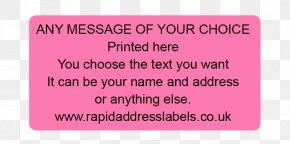 Promotional Labels - Pink M Product Font Rectangle PNG