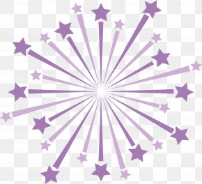 Purple Five-pointed Star Ray - Purple Pentagram Five-pointed Star PNG