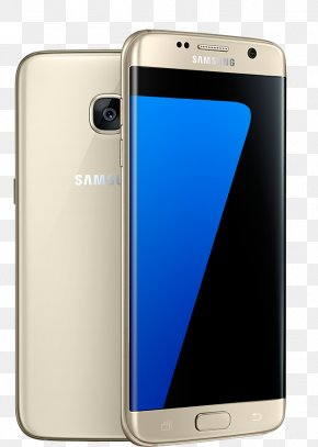 Samsung Galaxy Edge - Samsung GALAXY S7 Edge Android Gold Telephone PNG