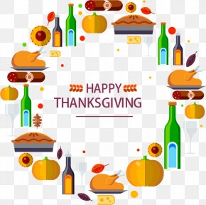 Happy Thanksgiving - Turkey Thanksgiving Dinner Holiday PNG