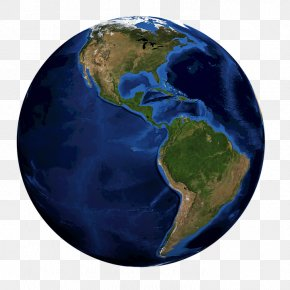 Deep Blue Earth - Earth Globe World Continent Planet PNG