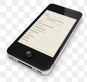 Smartphone Clipart - IPhone 4 Smartphone Clip Art PNG