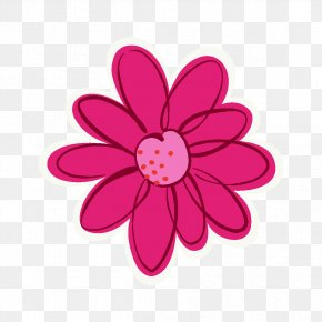 Painted Pink Floral Background - Pink Flower Rose PNG