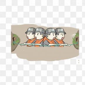 Anti-flood Soldiers - Soldier Flood Firefighter Illustration PNG
