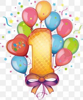 Vector Balloon Number 1 - Birthday Cake Stock Illustration Clip Art PNG