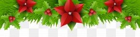 Christmas Border Decor Transparent Clip Art Image - Christmas PNG