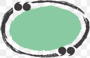 Green Oval Title Box - Circle Chalk Ellipse PNG