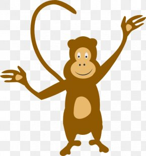 Cartoon Monkey - The Evil Monkey Clip Art PNG