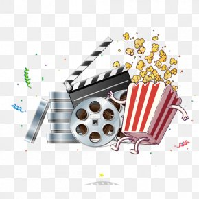 Cartoon Popcorn - Paper Business Card Film Director Zazzle PNG