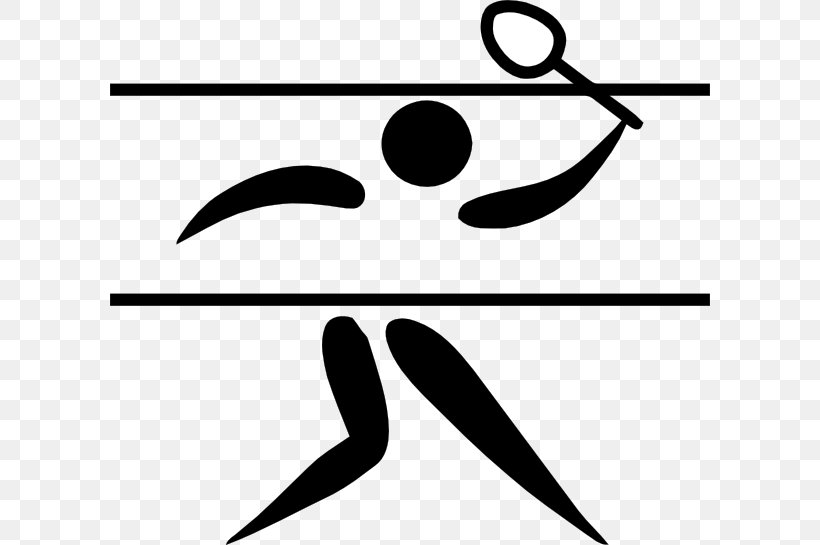 1948 Summer Olympics 2012 Summer Olympics Badminton Olympic Sports Clip Art, PNG, 600x545px, Badminton, Area, Badmintonracket, Black And White, Brand Download Free
