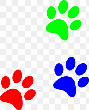 Dog Paw Print Stencil - Dog Cat Cougar Puppy Clip Art PNG