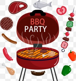 Exquisite Cartoon Barbecue Grill Skewer - Barbecue Grill Barbecue Chicken Barbecue Sauce Ribs Hamburger PNG