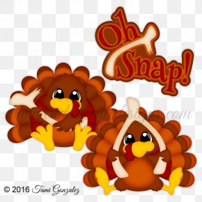 Oh Snap - Thanksgiving Holiday Turkey Meat Clip Art PNG