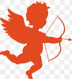 Angel With Bow And Arrow - Clip Art Vector Graphics Illustration Image Love PNG