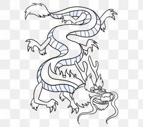 Chinese Dragon Drawing - Chinese Dragon China Drawing Line Art PNG
