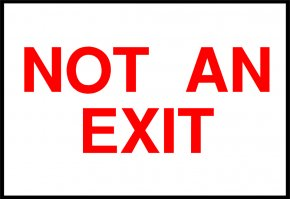 Exit Signs Pictures - Exit Sign Sticker Emergency Exit Adhesive Tape Plastic PNG