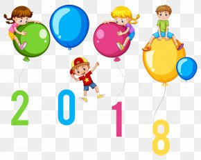 2018 - Child New Year's Day Desktop Wallpaper Clip Art PNG