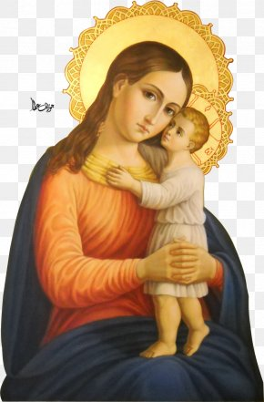Mary - Mary, Mother Of Jesus Eleusa Icon Holy Family Child Jesus PNG