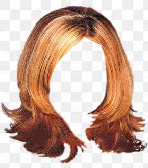 Hair - Brown Hair Hair Coloring Wig Long Hair Hairstyle PNG