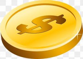 Gold Dollar Transparent Background - Gold Coin Clip Art PNG