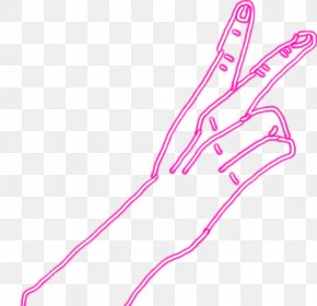 Robot Hand Picsart - Hand Finger Peace Graphics Image PNG
