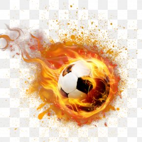 Catch The Football - Football Flame PNG