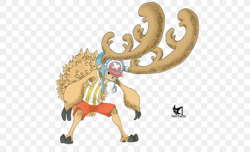 Tony Tony Chopper Monkey D. Luffy One Piece Treasure Cruise Shanks, PNG, 500x500px, Tony Tony Chopper, Antler, Art, Carnivoran, Cartoon Download Free