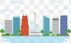 Jakarta Landmarks Vector Material - National Monument Landmark PNG