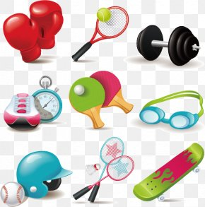 Sports Equipment Cartoon Icon - Sports Equipment Net Icon PNG