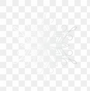 White Snowflake Clip-Art Image - Black And White Line Point Angle PNG
