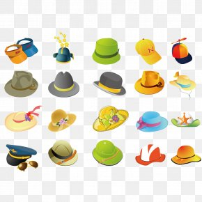 Vector Hat Collection - Hat Clothing Euclidean Vector PNG
