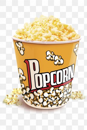 Cinema Popcorn - PopCorn Kettle Corn Junk Food PNG