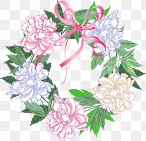 Blue Wreath - Wreath Watercolor Painting Flower Clip Art PNG