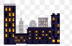Fashion Night City Vector Material - City PNG