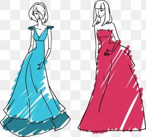 Women Renderings - Gown Model Fashion PNG
