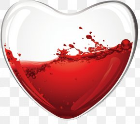 Heart-shaped Vector Decorative Material - Wine Glass Wine Glass Heart Drink PNG