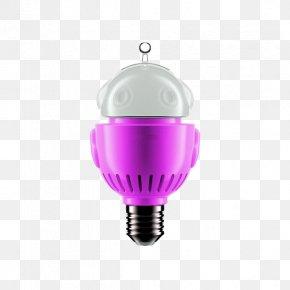 Pink Light Bulb - Incandescent Light Bulb Electric Light LED Lamp PNG