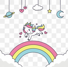 Happy To Run The Unicorn - Adobe Illustrator Clip Art PNG