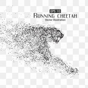 Particle Art,Cheetah - Cheetah Particle Euclidean Vector Illustration PNG