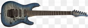 Guitar - Schecter Guitar Research Ibanez Seven-string Guitar Electric Guitar PNG